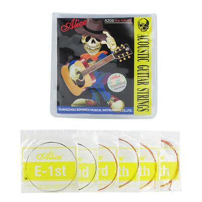 1 Set of Alice A206-SL Acoustic Guitar Strings Bronze Wound Steel (.011-.052)