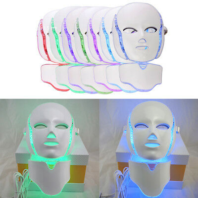 LED 7Colors Light Microcurrent Skin Rejuvenation Facial Mask Electric Device Vd