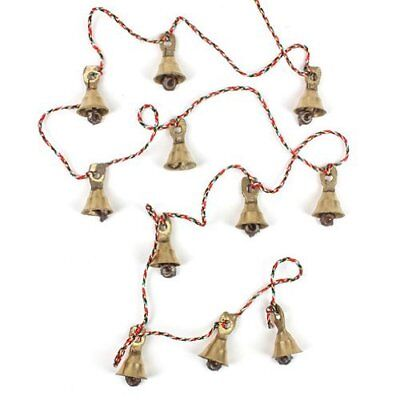 Brass Bells Door Window Hanging String of 11 Vintage Indian Style Nice Sound