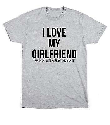 Edward Sinclair I Love My Girlfriend When She Lets Me Play Video Games Unisex T