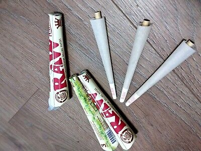 RAW® 3 Packs Of 3 Pcs = 9 Pcs Organic King Size Pre Rolled Cones Rolling Paper