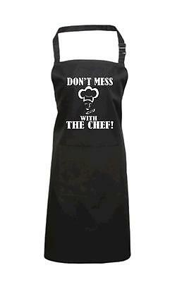 Cooking/Baking apron in various colours 'DON'T MESS WITH THE CHEF'