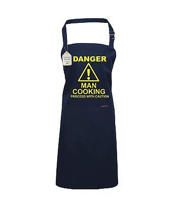 Edward Sinclair Cooking/Baking Apron in printed in yellow 'DANGER MAN COOKING…PR