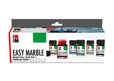 Marabu Easy Marble Box Set. Artists Marbling Paint. Art & Craft.