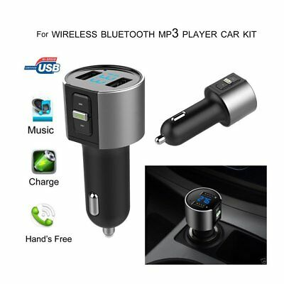 Bluetooth Car FM Transmitter Wireless Radio Adapter MP3 Player + USB charger PT