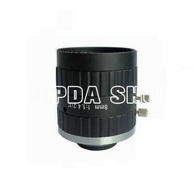 "1PC WLS WL1408-3MP 8mm 3Megapixel 2/3"" F1.4 C FA industrial camera Lens#SS"
