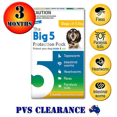 Big 5 Protection Pack for Small Dogs 4 - 5.5 kg - Yellow - 3 Month - Credelio