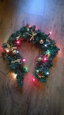 Christmas garland with lights extra tree lights job lot to clear