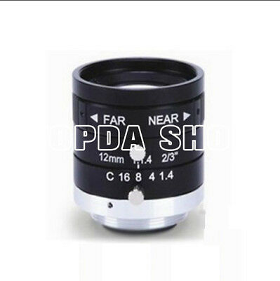 "1PC WLS WL1412-2M 12mm 5Megapixel 2/3"" F1.4 C industrial camera Lens#SS"