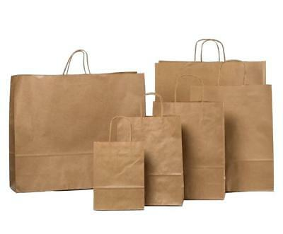 Brown Twist Handle Paper Party & Gift Carrier Bag / Bags With Twisted Handles
