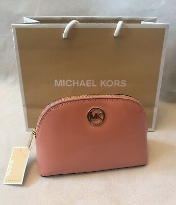 Brand New 100% Authentic Michael Kors Fulton Travel Make-Up Bag Pouch Pink 7b991c3ac2