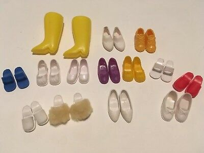 Vintage Sindy Doll shoes boots mules trainers excellent condition 1970's