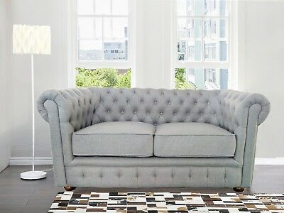 NEW 2 SEATER Comfortable High Quality Fabric Chesterfield ...