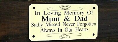 Solid Brass Personalised Bench Memorial Plaque Sign 4X2 Or5X2 Any Words You Wish