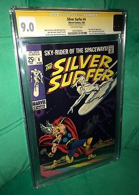 Silver Surfer 4. Iconic Cover. CGC SS 9.0. Stan Lee. Perfect Sig Placement.