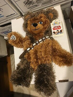 "Build a Bear 18"" Star Wars Chewbacca Bear Plush New UNSTUFFED W Sounds!"