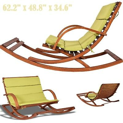 Patio Lounge Chair Outdoor Bench Seat Rocking Loveseat Lawn Swing Porch Seating