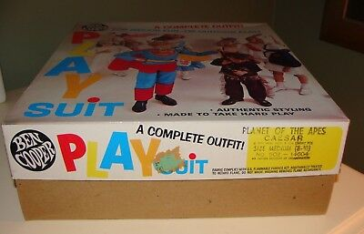 1973 THE PLANET OF THE APES,Ben Cooper Play Suit Cloth Costume#502 146O4 CAESAR