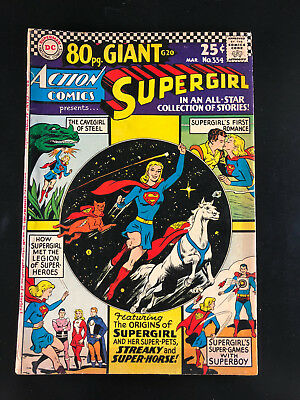 Action Comics 334 DC 03/66 Supergirl 80 Page Giant G20 Origin of Supergirl H3