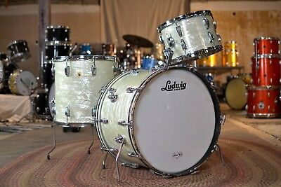 1960s Ludwig Super Classic White Marine Pearl Drum Kit
