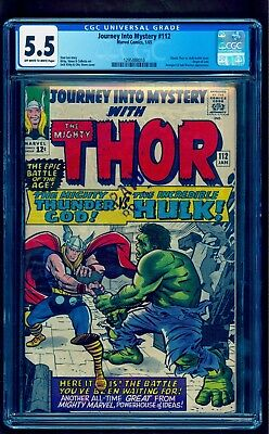 Journey Into Mystery 112 Cgc 5.5 ** Nice Copy Bright Colors Under Graded