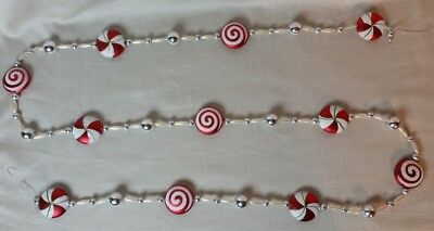 Candy Christmas Tree Decoration Garland 6'