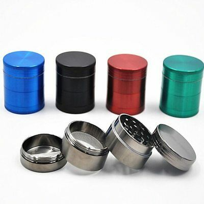 Grinder Smoke 4 Layers Herb Tobacco Crusher Alloy Aluminum Hand Crank