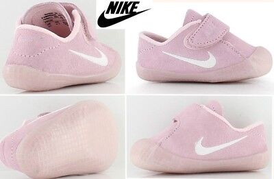 RARE! NEW suede leather NIKE wafffle 1 cbv baby girls crib shoes 3 pink 6-9 mos