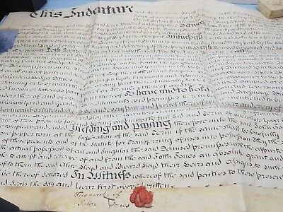 1783 Indenture large lease Brecon  John Jones to Alice & Edward Lloyd With seal