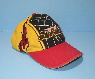 Ski-Doo Cap with Flames Snowmobile Bombardier Hat Adjustable Back