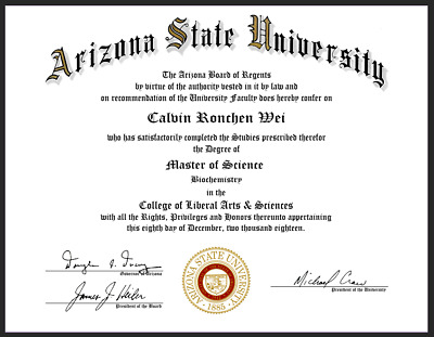 Ch-Ch-Ch-Changes.. to your order Fake Degree US Diploma (Made From Your Images)