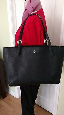 e9d3ade0468d Tory Burch Small York Buckle Tote in Black Saffiano Leather MSRP  245  Authentic