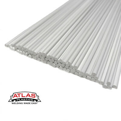 HDPE Plastic welding rods 4mm white triangle polyethylene PEHD pack of 30pcs