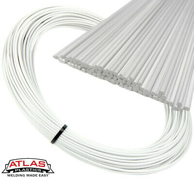 PVC Plastic Welding Repair Rods-20ft, 1LB (12in x 3mm Natural)
