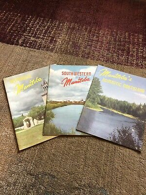 Lot Of 1950-60s Canadian Travel Booklets And Guides