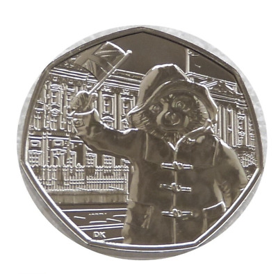 2018  PADDINGTON BEAR AT THE PALACE COIN UNCIRCULATED FIFTY PENCE Easter GIFT