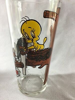 Vintage Sylvester Tweety Pepsi Collector Series Glass 1976 Warner Bros.