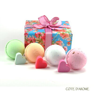 Summer Sale - Huge Fizzy Bath Bombs, Heart Soaps luxury packed Gift Set