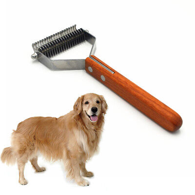 Pet Dog Cat Undercoat Rake Wide Dematting Brush Hair Shedding Fur Stripping Comb