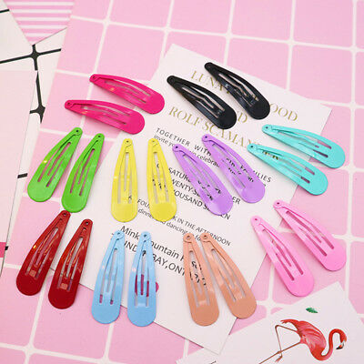 50pcs Baby Girl Candy Color Hairpins Kids Cute Hair Clips Snaps Hair Accessories
