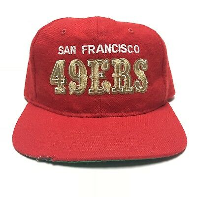 9844d5189bc88 VTG San Francisco 49ers Starter Text Snapback Hat NFL Football Cap OSFA
