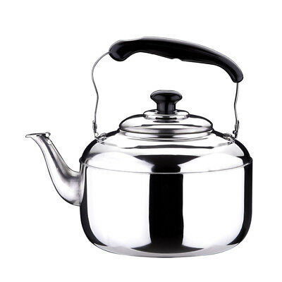 Whistling Kettle 5L Stainless Steel Coffee Tea Pot Induction Gas Stovetop