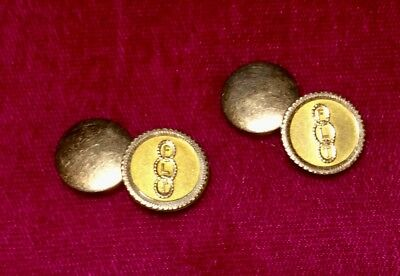 Historic Engraved Gold-Filled Odd Fellows Cufflinks Vintage 1900's-1910's