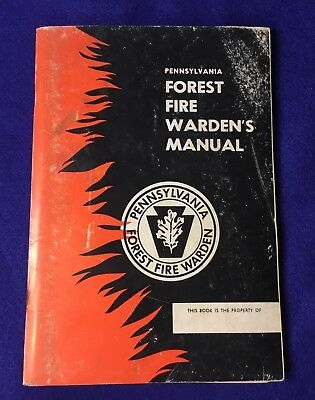 Vintage 1958 Pennsylvania Forest Fire Warden's Manual Good Condition