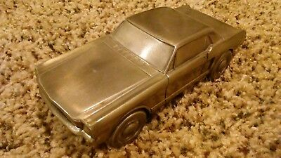 1965 Ford Mustang Banthrico metal bank Chicago 1974 Collectable Gem.