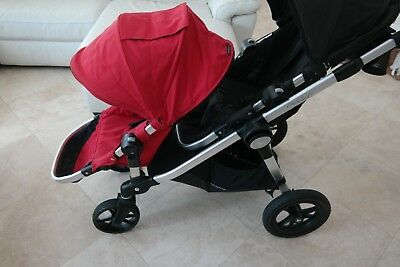 Baby Jogger City Select Double Stroller Black Red W Black Frame