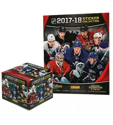 2017-18 Panini Hockey Stickers sealed box NHL Sticker Collection 50 packs of 7