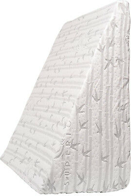 Superior Wedge Shaped Memory Foam Pillow 25? X 24? X 12? With Removable