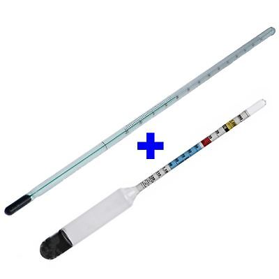 Hydrometer & Thermometer Homebrew Set Beer, Cider & Wine Triple Scale Dual Temp