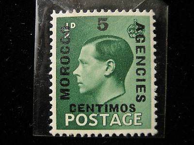 Morocco Agencies - Edward VIII 5c on 1/2D - MNH